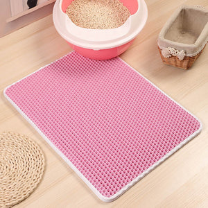 CLEAN PAWS Double-Layer Cat Litter Mat E-Pink / Medium Pets n' Home - The Barking Dog Market
