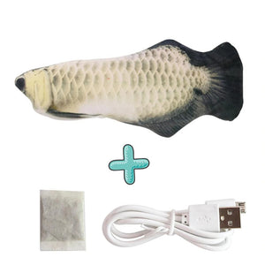 Smart Sensor Flapping Fish Toy for Cats Silver Dragon - The Barking Dog Market