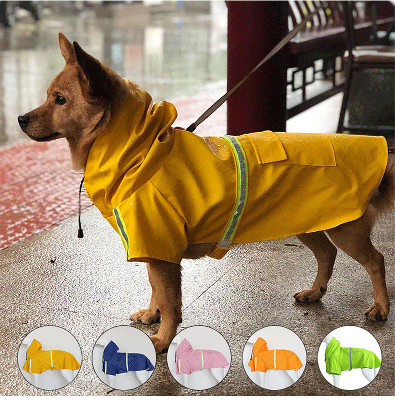 THE BARKING DOG Reflective Strips Raincoat Pet Clothing - The Barking Dog Market