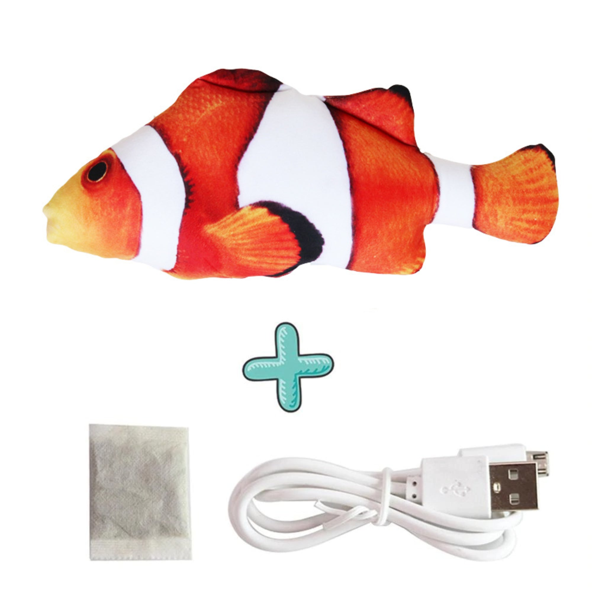 Smart Sensor Flapping Fish Toy for Cats Clownfish - The Barking Dog Market