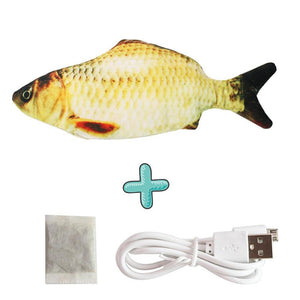 Smart Sensor Flapping Fish Toy for Cats Grass Carp - The Barking Dog Market