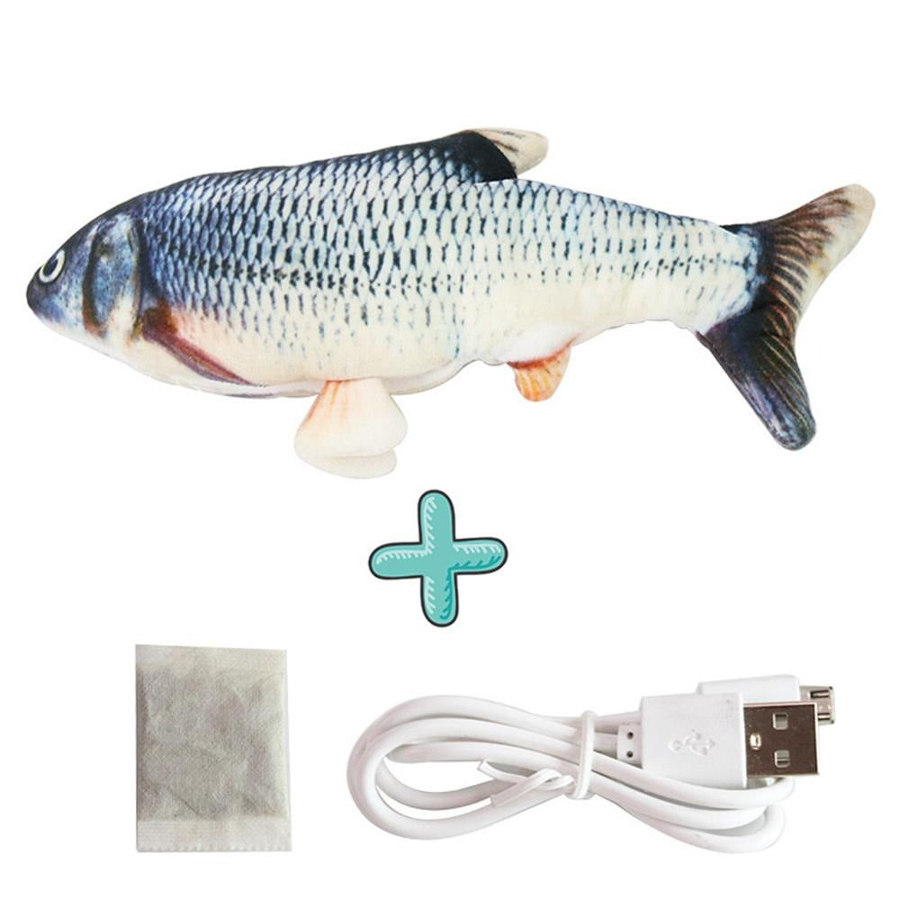 Smart Sensor Flapping Fish Toy for Cats Crucian Carp - The Barking Dog Market