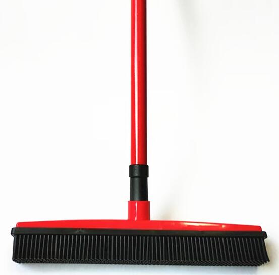 THE BARKING DOG Rubber Broom & Squeegee Red Pets n' Home - The Barking Dog Market