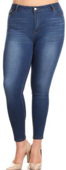 cda9e30f6cb Jvini Ripped Stretch Denim Jeggings.  17.99 · Jvini Women s Plus Size  Stretchy Pull-On Skinny Denim Jeans