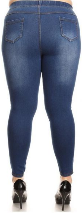 9bbb0d8647c Jvini Women s Pull-On Ripped Destroyed Stretch Denim Jeggings Plus Siz – Try  Money Saver