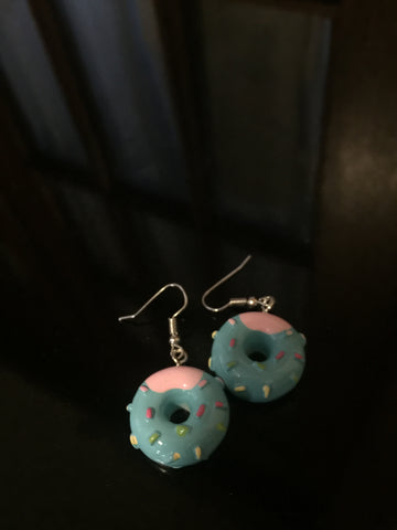 Donut Earrings - Blue