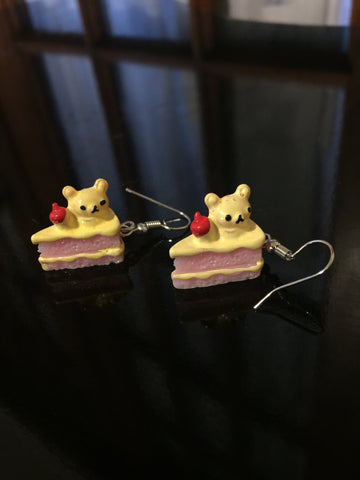 Cake Earrings - Beary Berry