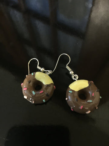 Donut Earrings - Chocolate