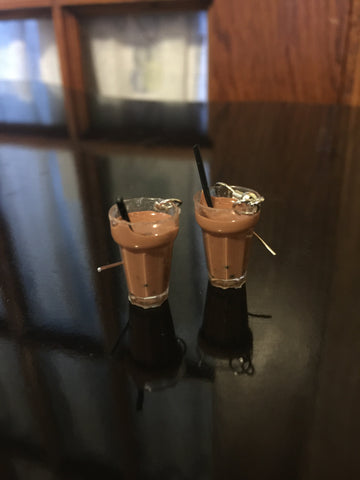 Boba Tea Earrings - Chocolate