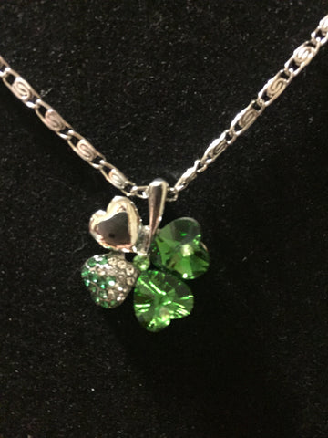 Shamrock Crystal Necklace