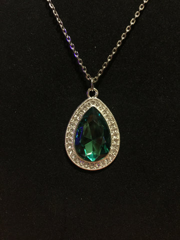 Elegant green princess necklace