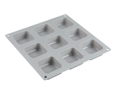 9 Cavity Bevel Square Soap Mold