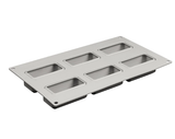 6 Cavity Bevel Rectangle Mold