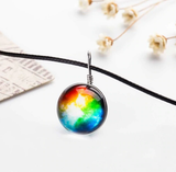 Nebula Marble Necklace - Rainbow
