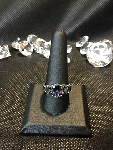 Mystic Fire Topaz type ring