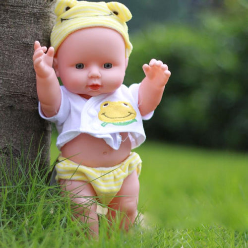 Silicone Baby Doll Soft Newborn New Year Christmas Girl Gift Toys for Children Ranbow