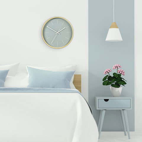 Pale Blue Wall Clock | Jones Clocks