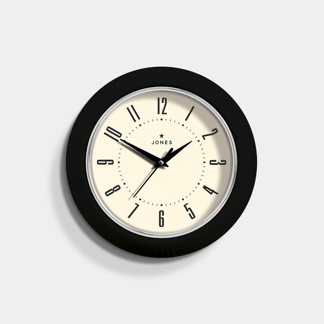 Small Retro Wall Clock | Black | Jones Clocks | Ketchup 214