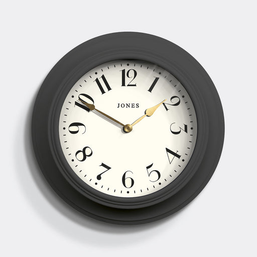 Classic Dark Grey Wall Clock - Jones Clocks - JCOCKT111BGY