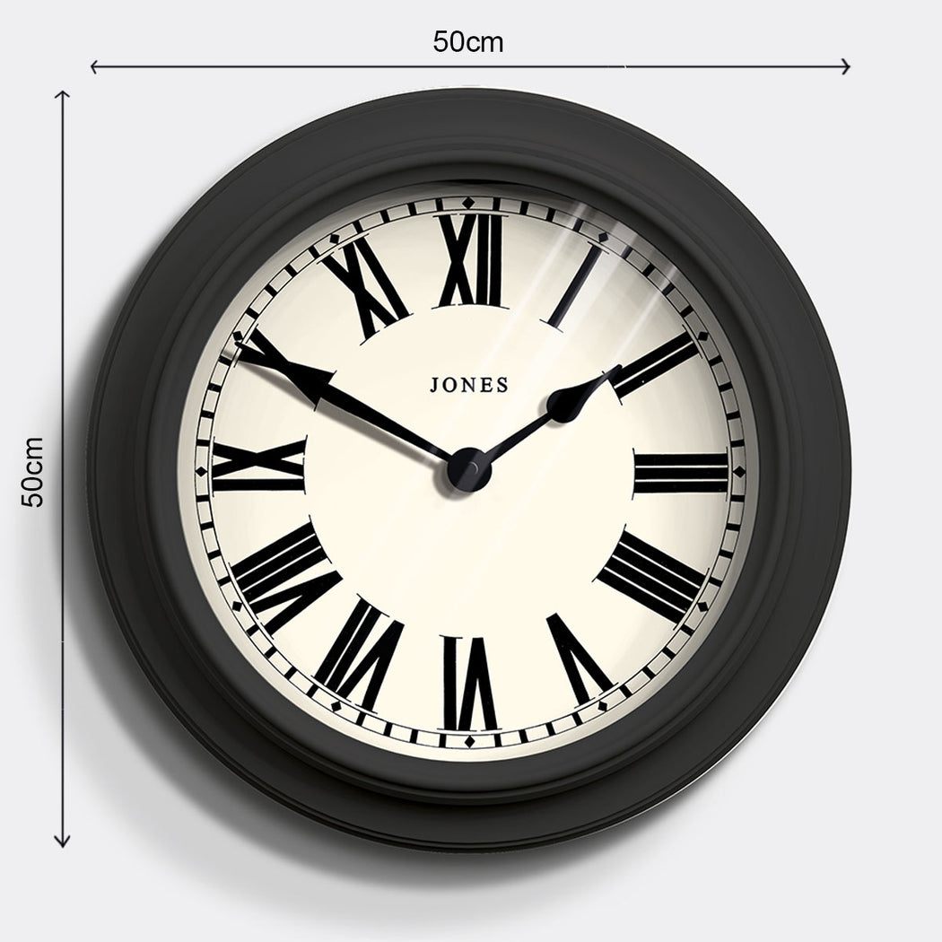 Large Roman Numeral Wall Clock | Grey | Jones Clocks | Opera House 1 - size