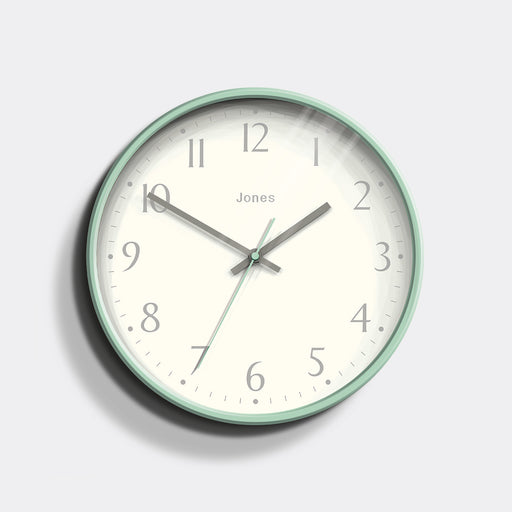 Medium Contemporary Wall Clock | Duck Egg | Jones Clocks | Studio 282