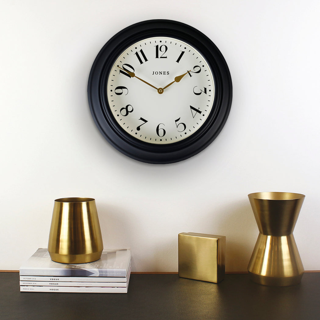 Classic Dark Blue Wall Clock - Jones Clocks - JCOCKT111PEBL