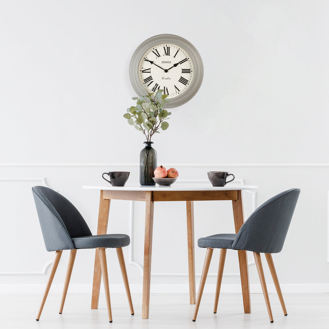 Large Roman Numeral Wall Clock | Grey | Jones Clocks | Cocktail 319 - style