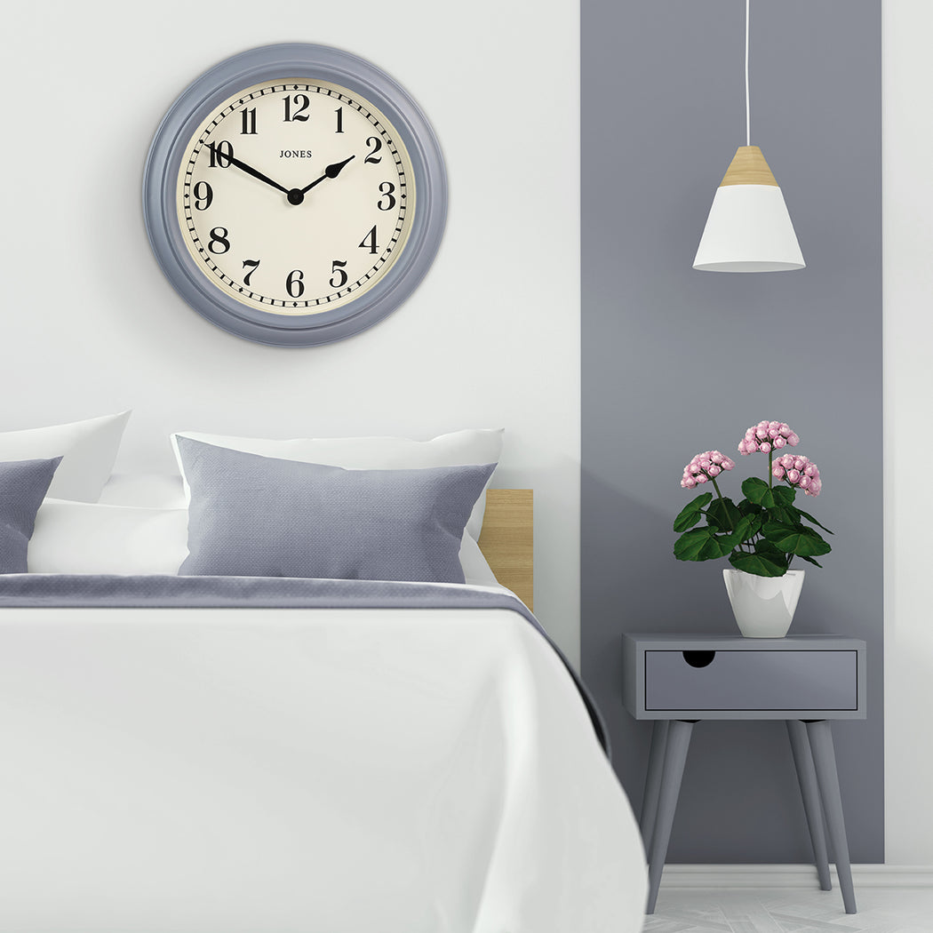 Large Classic Wall Clock | Blue | Jones Clocks | Opera House 122 - style