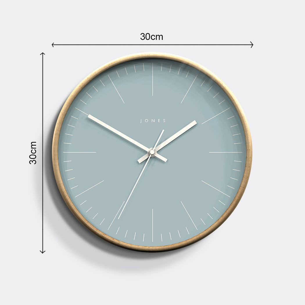Medium Contemporary Wall Clock | Wood | Jones Clocks | Studio 105 - size