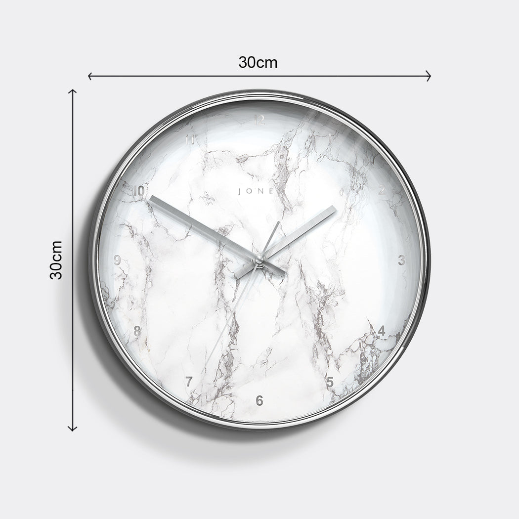 Medium Decorative Wall Clock | Silver | Jones Clocks | Studio 525 - size