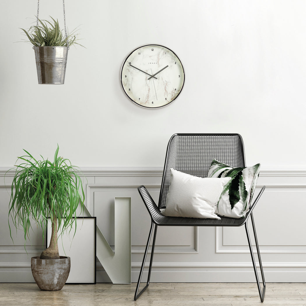 Medium Decorative Wall Clock | Silver | Jones Clocks | Studio 525 - style