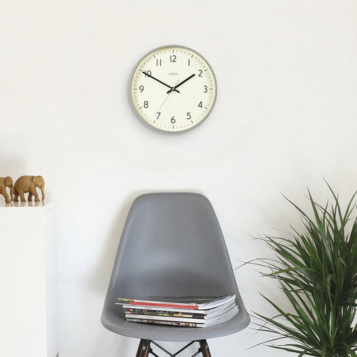 Medium Modern Wall Clock | Grey | Jones Clocks | Studio 52