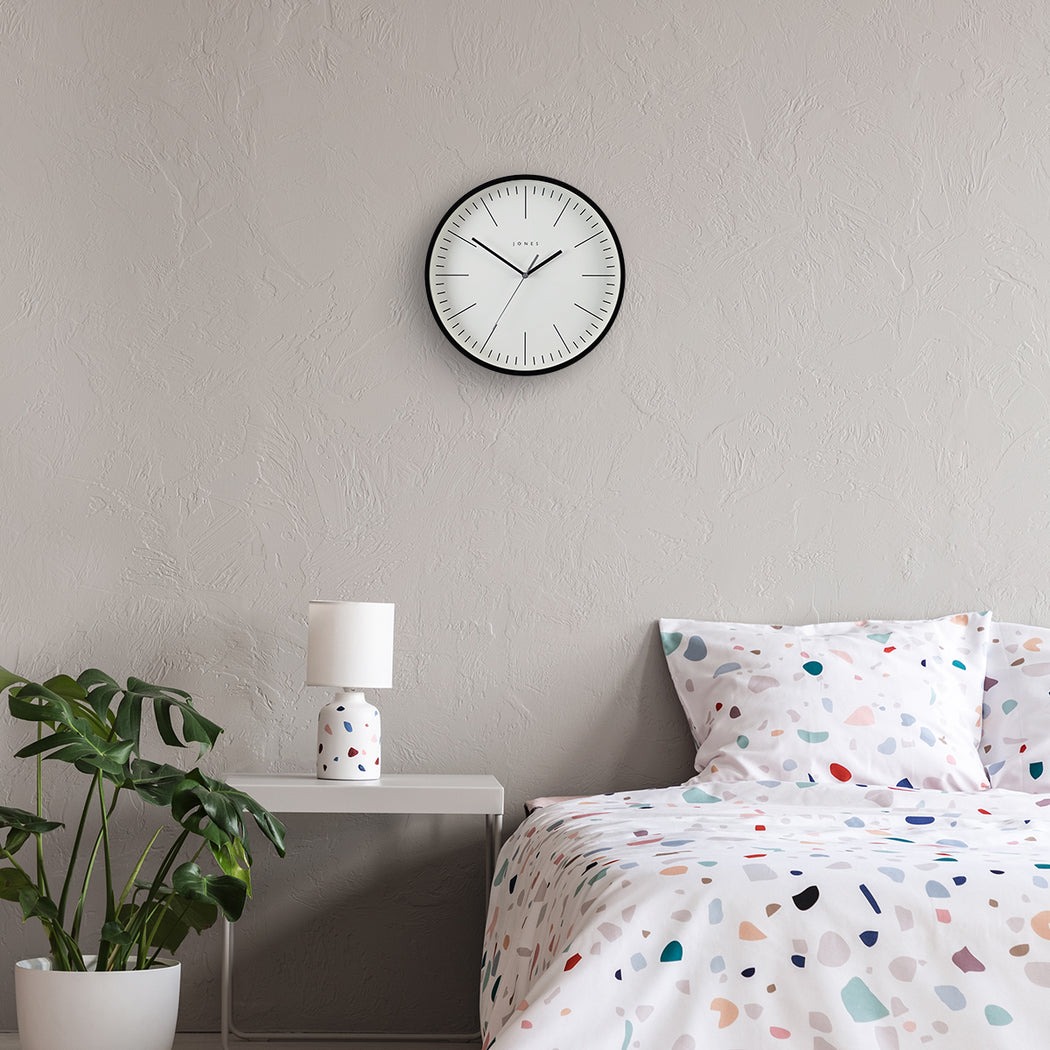 Modern Minimalist Black Wall Clock - Jones Clocks - JSPAR102K
