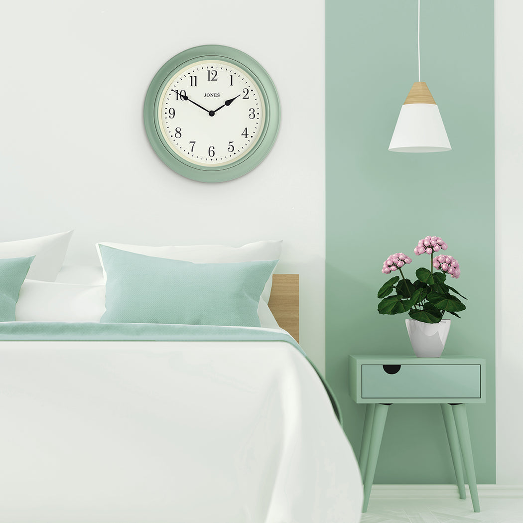 Large Classic Wall Clock | Duck Egg | Jones Clocks | Supper Club 144 - style