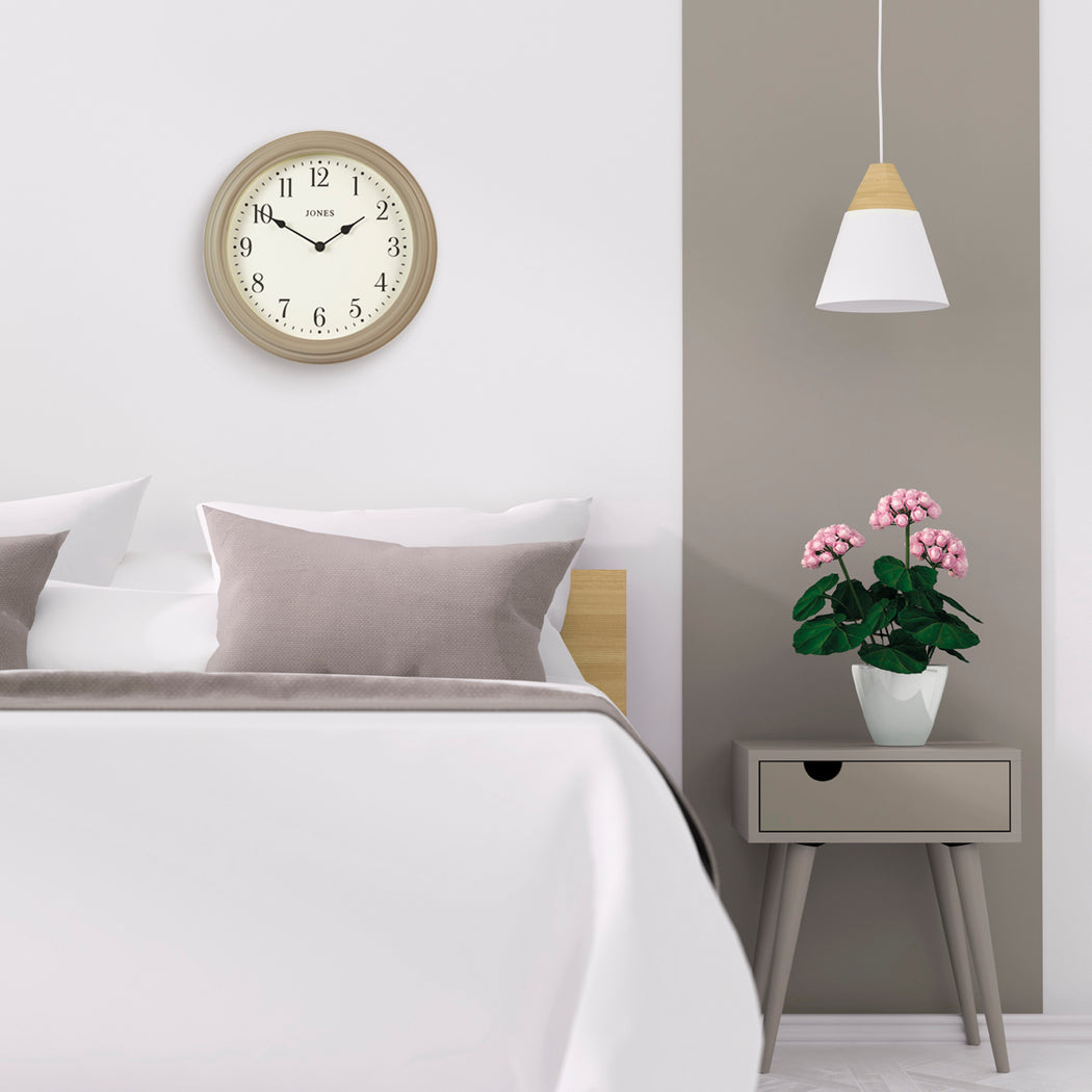 Medium Classic Wall Clock | Stone | Jones Clocks | Venetian 120 - style