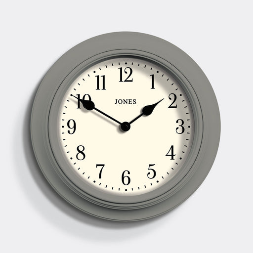 Large Grey Wall Clock - Jones Clocks - JSUP144CGY
