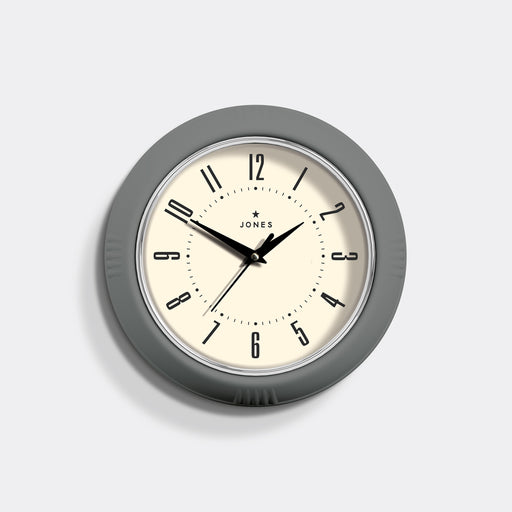 Small Retro Wall Clock | Grey | Jones Clocks | Ketchup 214