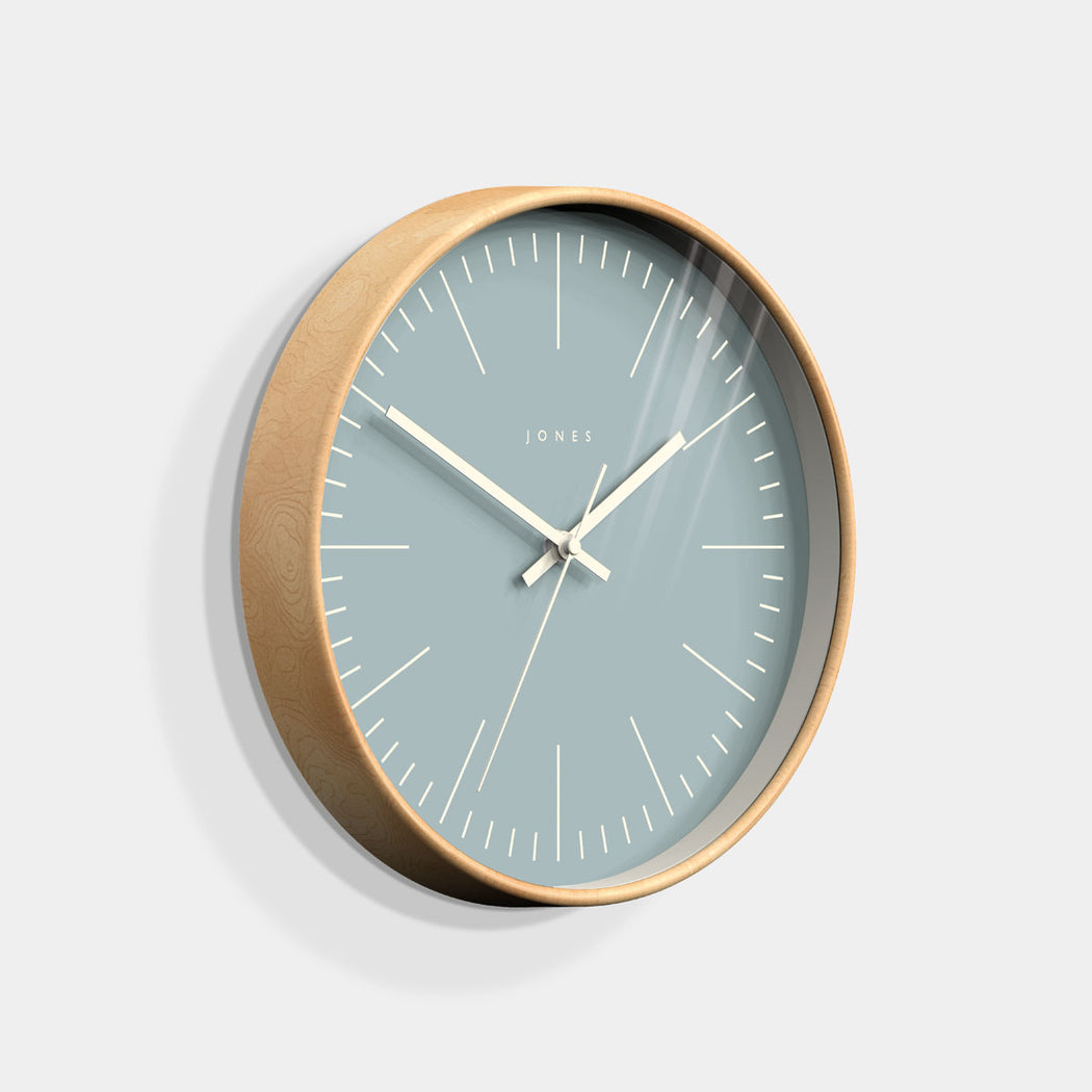 Medium Contemporary Wall Clock | Wood | Jones Clocks | Studio 105 - skew