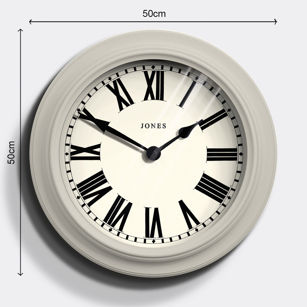Large Roman Numeral Wall Clock | Cream | Jones Clocks | Opera House 1 - size