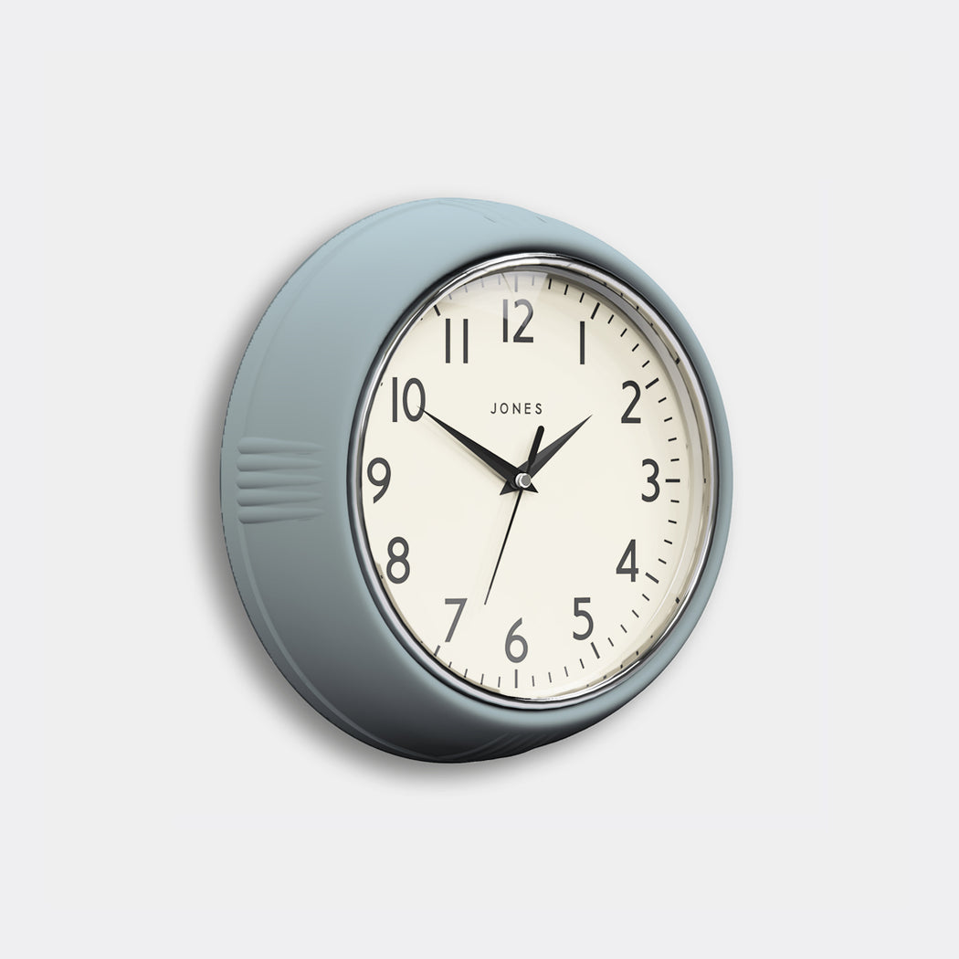 Retro Vintage Clear Blue Wall Clock - Jones Clocks - JKETC223CBL