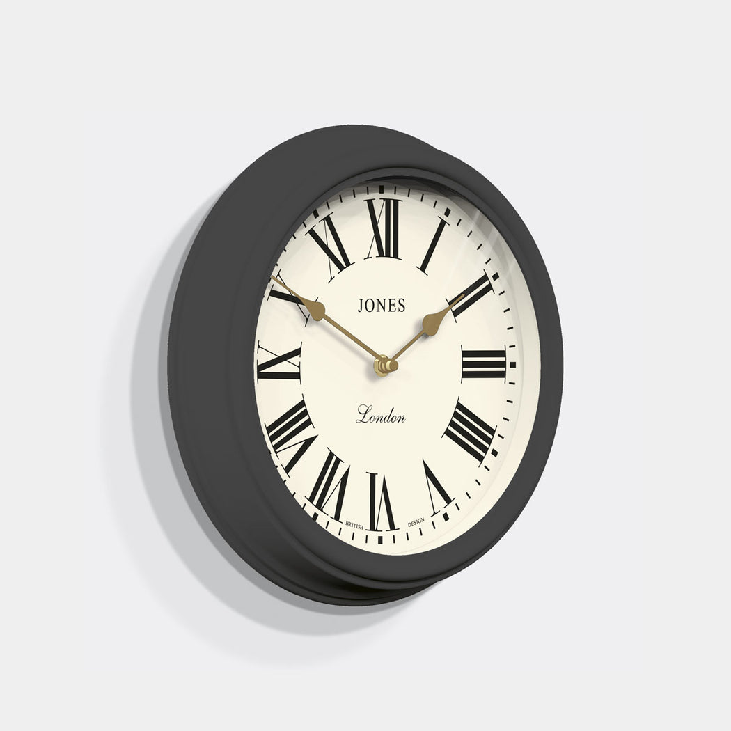 Roman Numeral Wall Clock - Classic Dark Grey - Jones Clocks - JVEN319BGY