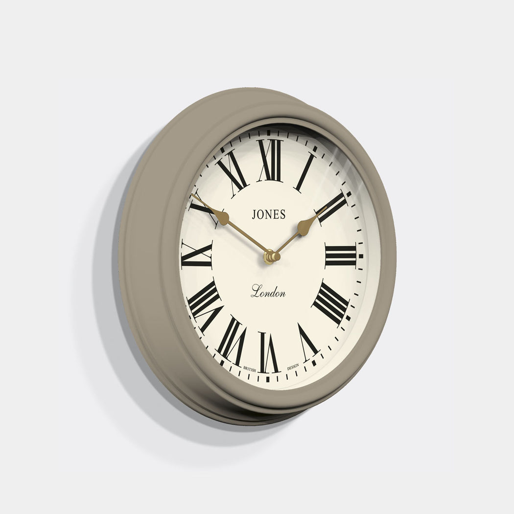 Roman Numeral Wall Clock - Classic Neutral - Jones Clocks - JVEN319ST.
