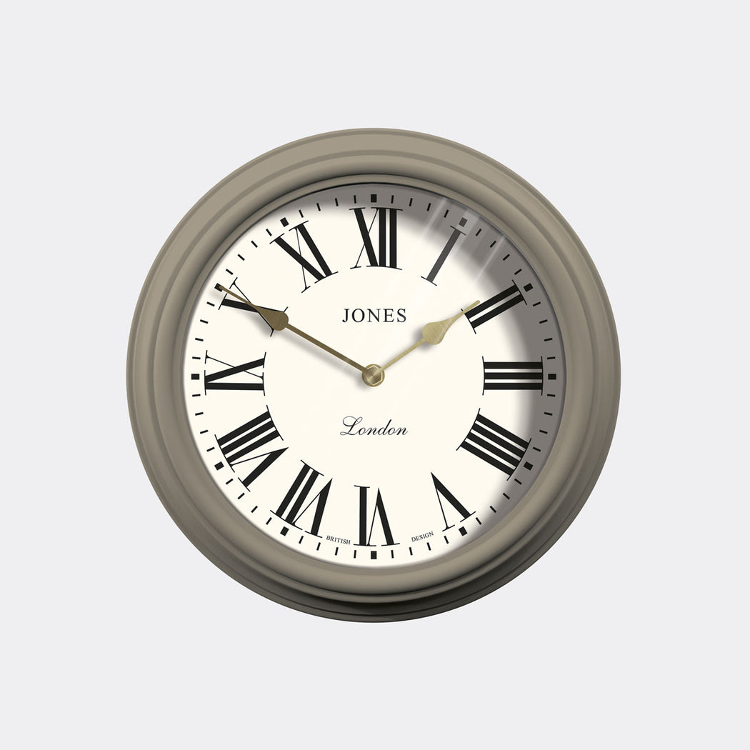 Roman Numeral Wall Clock - Classic Neutral - Jones Clocks - JVEN319ST