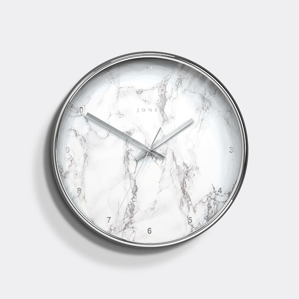 Medium Decorative Wall Clock | Silver | Jones Clocks | Studio 525