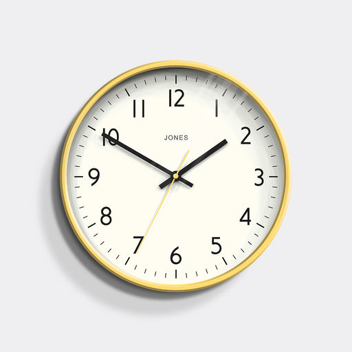 Medium Modern Wall Clock | Yellow | Jones Clocks | Studio 52