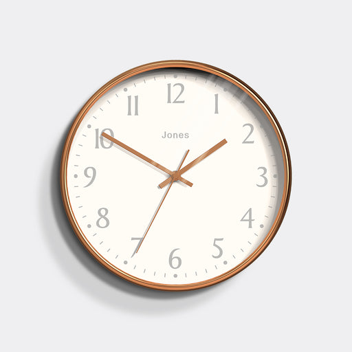 Medium Contemporary Wall Clock | Copper | Jones Clocks | Studio 282