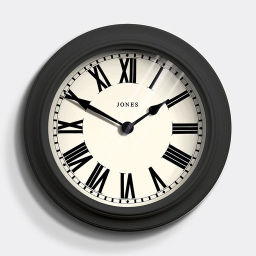Large Roman Numeral Wall Clock | Grey | Jones Clocks | Opera House 1