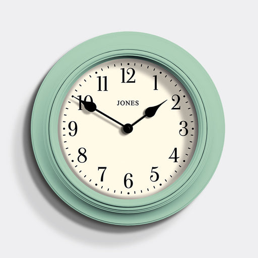 Large Classic Wall Clock | Duck Egg | Jones Clocks | Supper Club 144