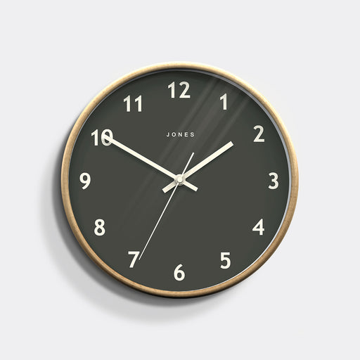 Medium Modern Wall Clock | Wood and Grey | Jones Clocks | Studio 509