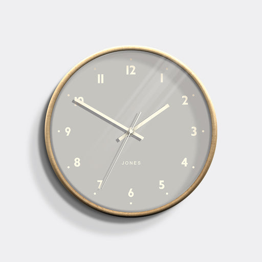 Medium Modern Wall Clock | Wood and Grey | Jones Clocks | Studio 516